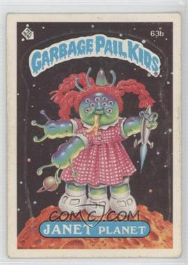 1985-88 Topps Garbage Pail Kids [???] #63b.2 - Janet Planet (Two Star Back)