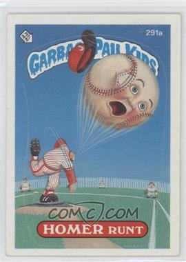 1985-88 Topps Garbage Pail Kids #291a.2 - Homer Runt (two star back)