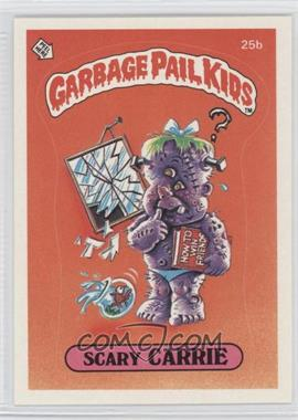1985 Topps Garbage Pail Kids Series 1 - [Base] #25b - Scary Carrie