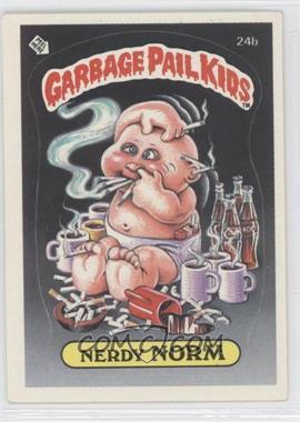 1985 Topps Garbage Pail Kids Series 1 #24b - Nerdy Norm