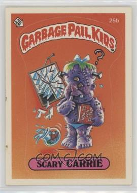 1985 Topps Garbage Pail Kids Series 1 #25b - Scary Carrie
