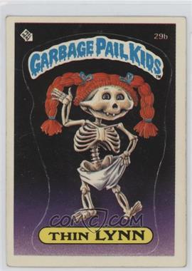 1985 Topps Garbage Pail Kids Series 1 #29b.1 - Thin Lynn (Checklist Back)