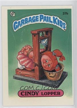 1985 Topps Garbage Pail Kids Series 1 #37b - Cindy Lopper