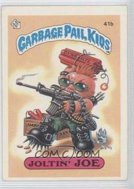 1985 Topps Garbage Pail Kids Series 1 #41b - Joltin' Joe