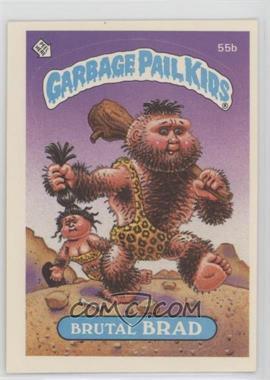 1985 Topps Garbage Pail Kids Series 2 - [Base] #55b.1 - Brutal Brad (Black Puzzle Back)