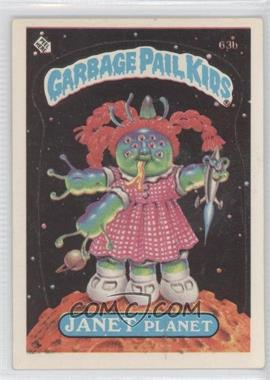 1985 Topps Garbage Pail Kids Series 2 - [Base] #63b.2 - Janet Planet (Two Star Back)