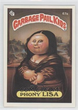 1985 Topps Garbage Pail Kids Series 2 - [Base] #67a - Phony Lisa