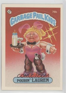 1985 Topps Garbage Pail Kids Series 2 - [Base] #76b.1 - Pourin' Lauren (Outlet Puzzle Back)