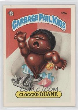 1985 Topps Garbage Pail Kids Series 2 #59a - Clogged Duane