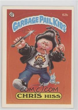 1985 Topps Garbage Pail Kids Series 2 #62b.2 - Chris Hiss (Two Star Back)