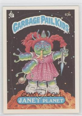 1985 Topps Garbage Pail Kids Series 2 #63b.2 - Janet Planet (Two Star Back)
