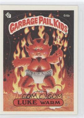 1985 Topps Garbage Pail Kids Series 2 #64b.1 - Luke Warm (one star back)