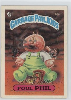 1985 Topps Garbage Pail Kids Series 2 #70b - Foul Phil
