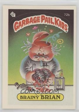 1985 Topps Garbage Pail Kids Series 2 #72b.2 - Brainy Brian (Two Star Back)