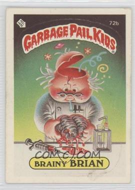 1985 Topps Garbage Pail Kids Series 2 #72b.2 - Brainy Brian (Two Star Back)
