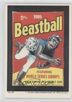 Beastball Bubble Gum Cards