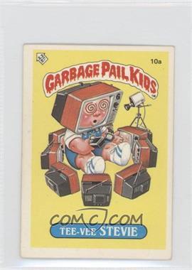 1986 Topps Garbage Pail Kids Series 1 - [Base] - UK Minis #10a - Tee-vee Stevie