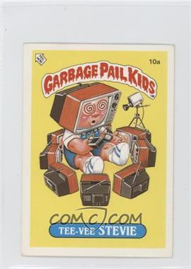 1986 Topps Garbage Pail Kids Series 1 UK Minis #10a - Tee-vee Stevie