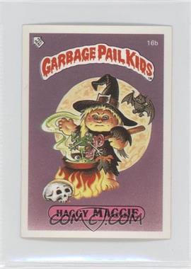 1986 Topps Garbage Pail Kids Series 1 UK Minis #16b - Haggy Maggie