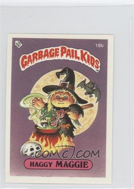 1986 Topps Garbage Pail Kids Series 1 UK Minis #16b - Haggy Maggie
