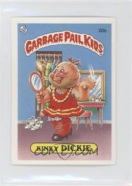 1986 Topps Garbage Pail Kids Series 1 UK Minis #20b - Kinky Dickie