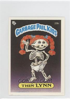 1986 Topps Garbage Pail Kids Series 1 UK Minis #29b.1 - Thin Lynn (Diploma Back)