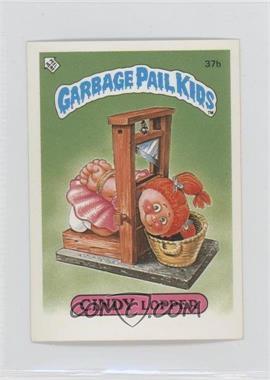 1986 Topps Garbage Pail Kids Series 1 UK Minis #37b - Cindy Lopper