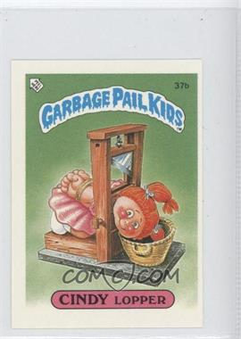 1986 Topps Garbage Pail Kids Series 1 UK Minis #37b - Cindy Lopper