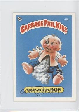 1986 Topps Garbage Pail Kids Series 1 UK Minis #40b - Damaged Don