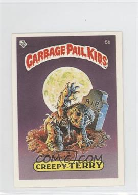1986 Topps Garbage Pail Kids Series 1 UK Minis #5b.2 - Creepy Terry (Stupid Student Back)