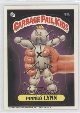 1986 Topps Garbage Pail Kids Series 3-6 [???] #85b - Pinned Lynn