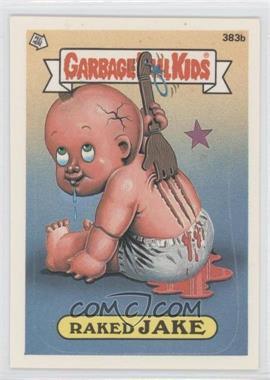 1987 Topps Garbage Pail Kids Series 10 - [Base] #383b.2 - Raked Jake (two star back)