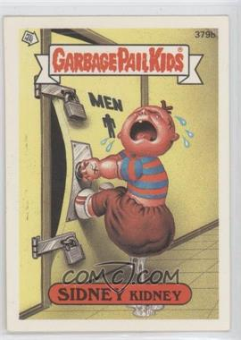 1987 Topps Garbage Pail Kids Series 10 #379b.2 - Sidney Kidney (One Star Back, Zach and Jill Comic)