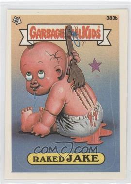 1987 Topps Garbage Pail Kids Series 10 #383b.2 - Raked Jake (two star back)