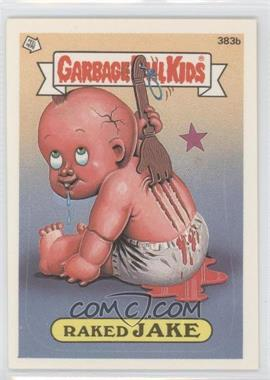 1987 Topps Garbage Pail Kids Series 10 #383b.2 - Raked Jake (two star back)