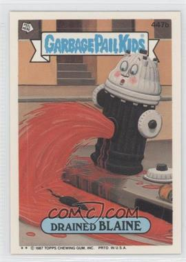 1987 Topps Garbage Pail Kids Series 11 - [Base] #447b.2 - Drained Blaine (Two Star)