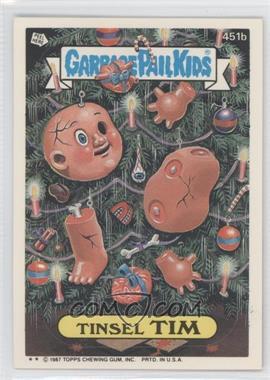 1987 Topps Garbage Pail Kids Series 11 - [Base] #451b.2 - Tinsel Tim (Two Star)