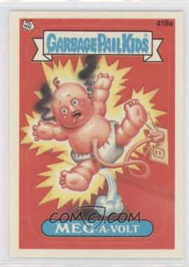 1987 Topps Garbage Pail Kids Series 11 #419a.2 - Meg-A-Volt (Two Star Back)