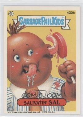 1987 Topps Garbage Pail Kids Series 11 #430b.2 - Salivatin' Sal (Two Star)