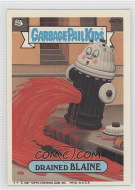 1987 Topps Garbage Pail Kids Series 11 #447b.2 - Drained Blaine (Two Star)