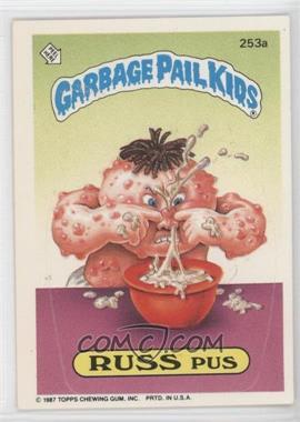 """1987 Topps Garbage Pail Kids Series 7 #253a.2 - Russ Pus (""""l Ki"""" puzzle back)"""
