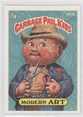 1987 Topps Garbage Pail Kids Series 7 #263b.2 - Modern Art (two star back)
