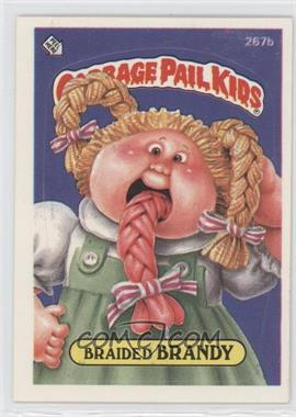 1987 Topps Garbage Pail Kids Series 7 #267b.2 - Braided Brandy (two star back)