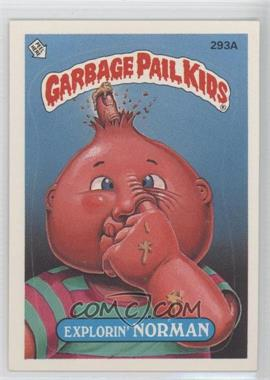 1987 Topps Garbage Pail Kids Series 8 #293a.2 - Explorin' Norman (Two Star Back)