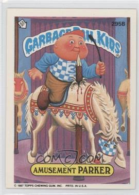 1987 Topps Garbage Pail Kids Series 8 #295B - Amusement Parker
