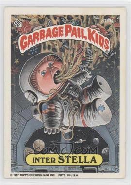 1987 Topps Garbage Pail Kids Series 8 #318b.2 - Inter Stella (Thumb Puzzle Back)