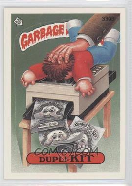 1987 Topps Garbage Pail Kids Series 8 #330b.1 - Dupli-kit (One Star Back)