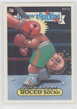1988 Topps Garbage Pail Kids Series 14 #541a.2 - Rocco Socko (Complete Puzzle Back)