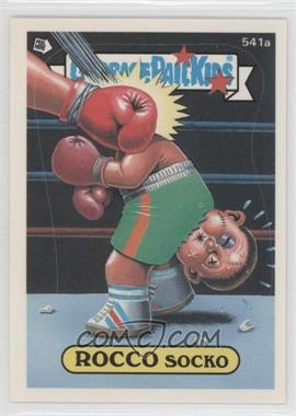 1988 Topps Garbage Pail Kids Series 15 #541 - Rocco Socko