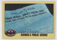 Batman's Public Service